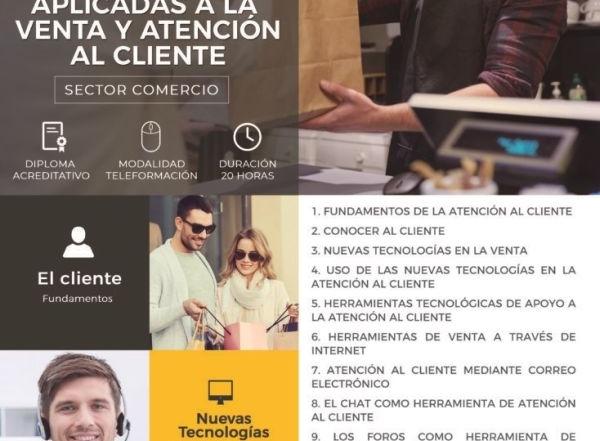 """Nuevo curso gratuito para trabajadores y autónomos """"Tecnologías aplicadas a la venta y atención al cliente"""""""